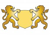 Two Lion Hold Shield