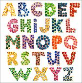 Colorful Funny Dotted Alphabet