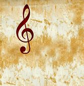 G (treble) Clef Music Notation Symbol On Grunge Background