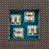 foto of processor socket  - Close - JPG