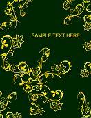 Cartel con flores de oro