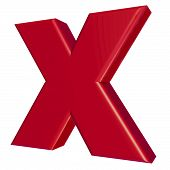 X Symbol For A Kiss In Red