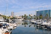 LONG BEACH, CA - September 21, 2012:  Long Beach Marina and city skyline, Long Beach, California. Lo
