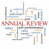 Annual Review Word Cloud Concept