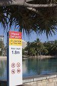 Lifeguard Safetey Sign