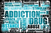 picture of drug addict  - Blue Drug Addiction Dangers Grunge As a Concept - JPG