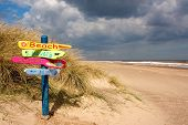Beach Sign Post
