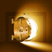 pic of bank vault  - Light through a half - JPG