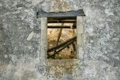 Weathered Wall Window poster