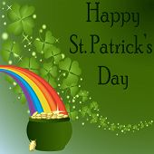 St Patrick's Day-pot Of Gold with a Rainbow