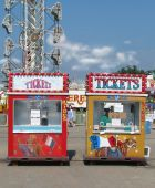 Ticket Booths At The Fair
