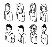 Peopl Icon Set or Lineart Characters