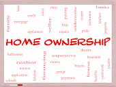 Home Ownership Word Cloud Concept On A Whiteboard