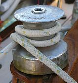 Steel Winch On A Yacht