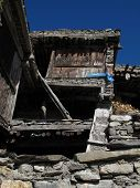 Leaning old house in Nepal