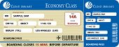 image of boarding pass  - Blue Boarding Pass Economy Class Vector EPS - JPG