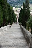 Calvary Steps at Pollensa in Mallorca Spain