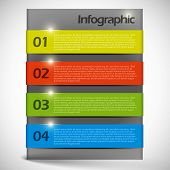 Vector abstract  background infographic template