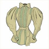 Vintage camisole. Beige.Vector illustration.