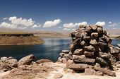Peru, Funerary Towers Of Silustrani, Lake Titicaca Area