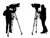 cameraman silhouettes