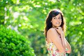 Natural Shy Woman Portrait