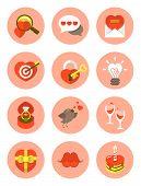 Modern Flat Love Symbols