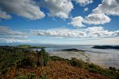 View From The Muckle Over The Kippford Estuary And Across The Solway