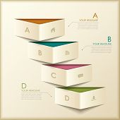 Abstract 3D Origami Banner Infographics