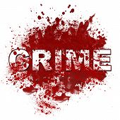 Crime Messy Blot