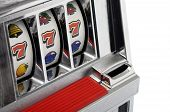 Slot Machine And Jackpot Three Seven