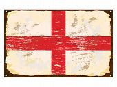 English Flag Enamel Sign