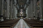 MILAN, LOMBARDY, ITALY - MAY 25: Interior of Milano Duomo Cathedral May 25, 2011 in Milan, Lombardy,