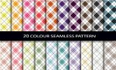 20 color seamless patterns set