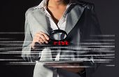 Business woman found risks in information security