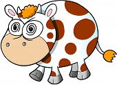 picture of insane  - Crazy Insane Cow Vector Illustration Art - JPG
