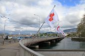 Mont-blanc Bridge In Geneva , Switzerland.