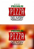 Pizza delivery labels