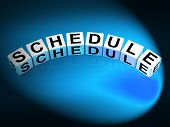Schedule Dice Mean Program Itinerary And Organize Agenda