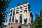 The Temple Of Antoninus Pius And Faustina