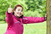 Mongolian Woman Doing Sport