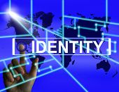 Identity Screen Represents Worldwide Or International Identifica
