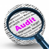 Audit Magnifier Definition Means Financial Inspection Or Audit