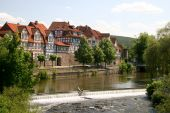 idyllische Stadt Hann münden in Deutschland