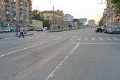 Crosswalk On Novoslobodskaya Street In Moscow
