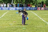 WROCLAW, POLAND - JUNE 1: Dog lovers gathered at the annual contest