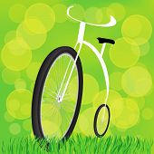 foto of penny-farthing  - colorful illustration with Retro - JPG