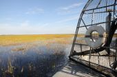 foto of airboat  - Ride with an airboat in the Everglades Florida - JPG