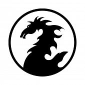 picture of dragon head  - dragon design emblem - JPG