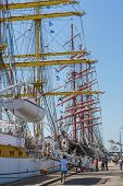 Anchored Tall Ship